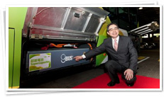 Mr. Edmond Ho, KMB��s Managing Director, introduces the new gBus2